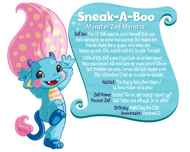Купить Зельф Бу / The Zelfs doll Sneak-A-Boo Monster